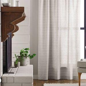 Hearth and hand magnolia fine stripe gray curtains